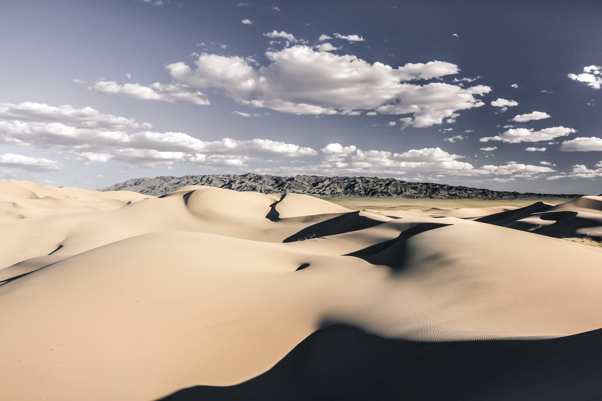 Le magnifiques dunes du désert de Gobi en Mongolie