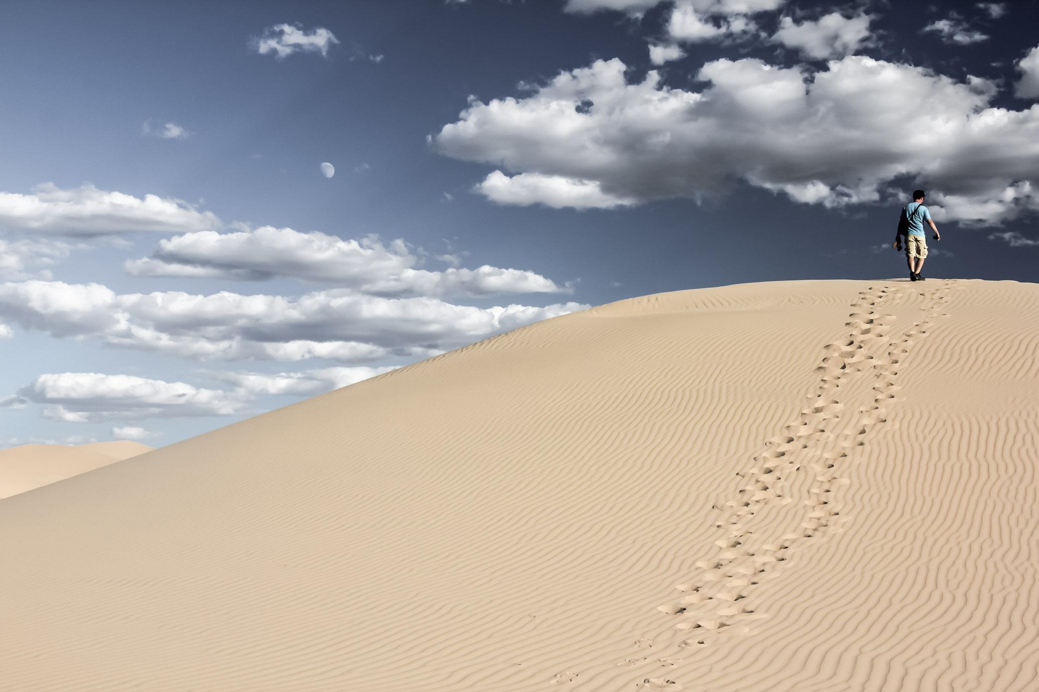 Dune dans le désert de Gobi en Mongolie