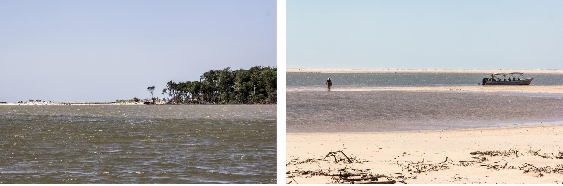 Les eaux du fleuve Parnaíba rencontrent l'océan. Route des Sensations.