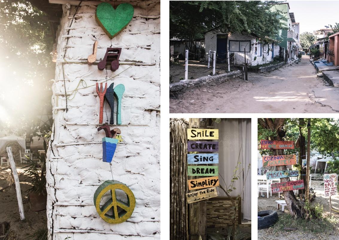 Scènes du village de Jericoacoara. Sur la Route des Sensations.