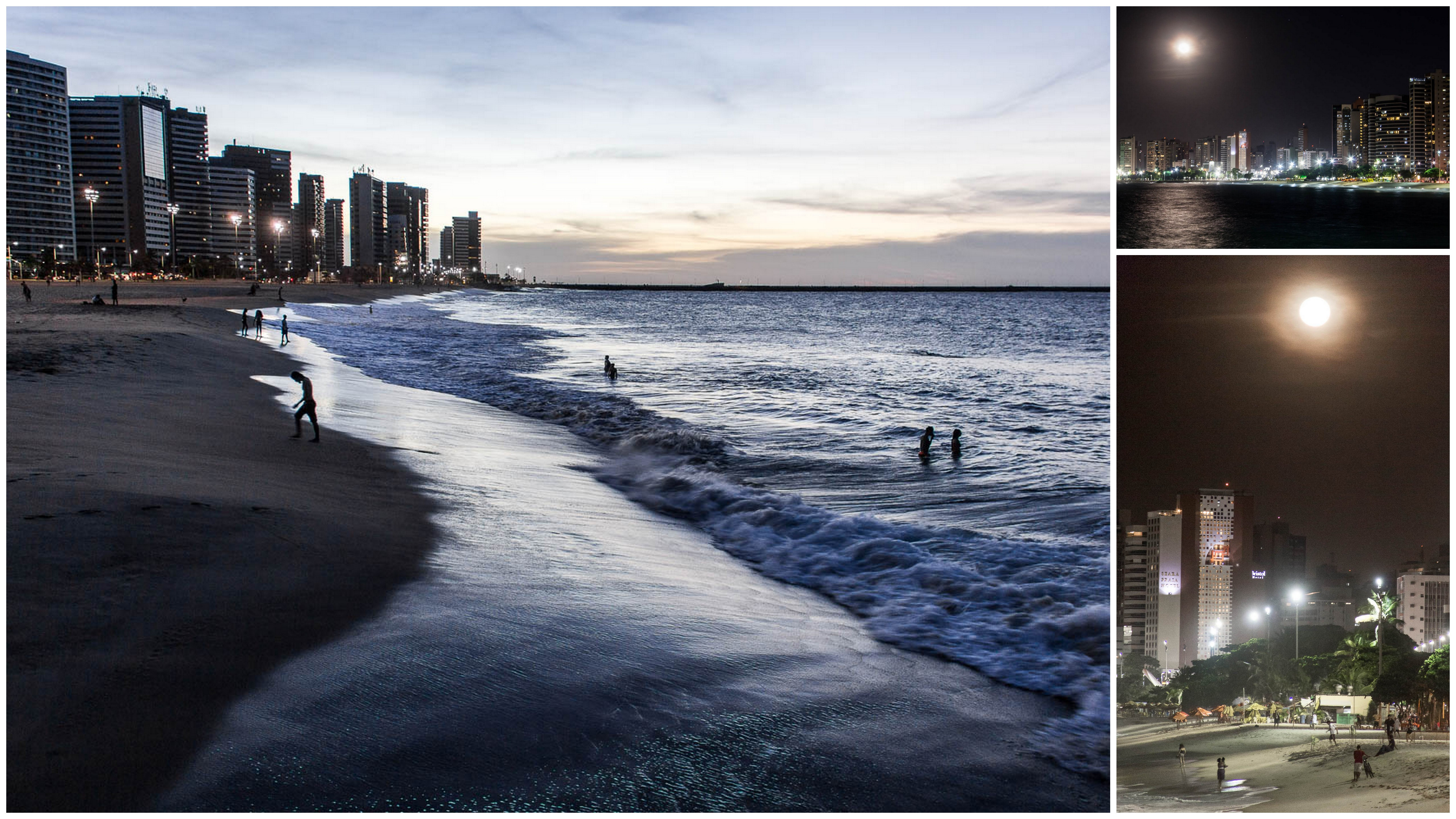 Plage de Fortaleza après le coucher du soleil - Route des Sensations