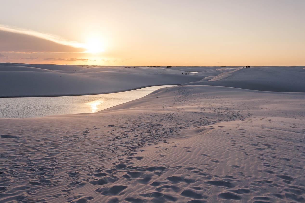 Coucher de soleil aux Lençois Maranhenses - Route des Sensations