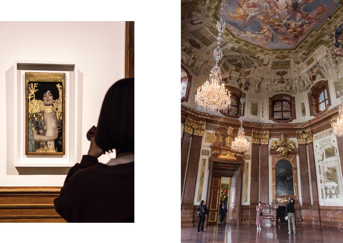 Intérieur du palais du Belvédère à Vienne.