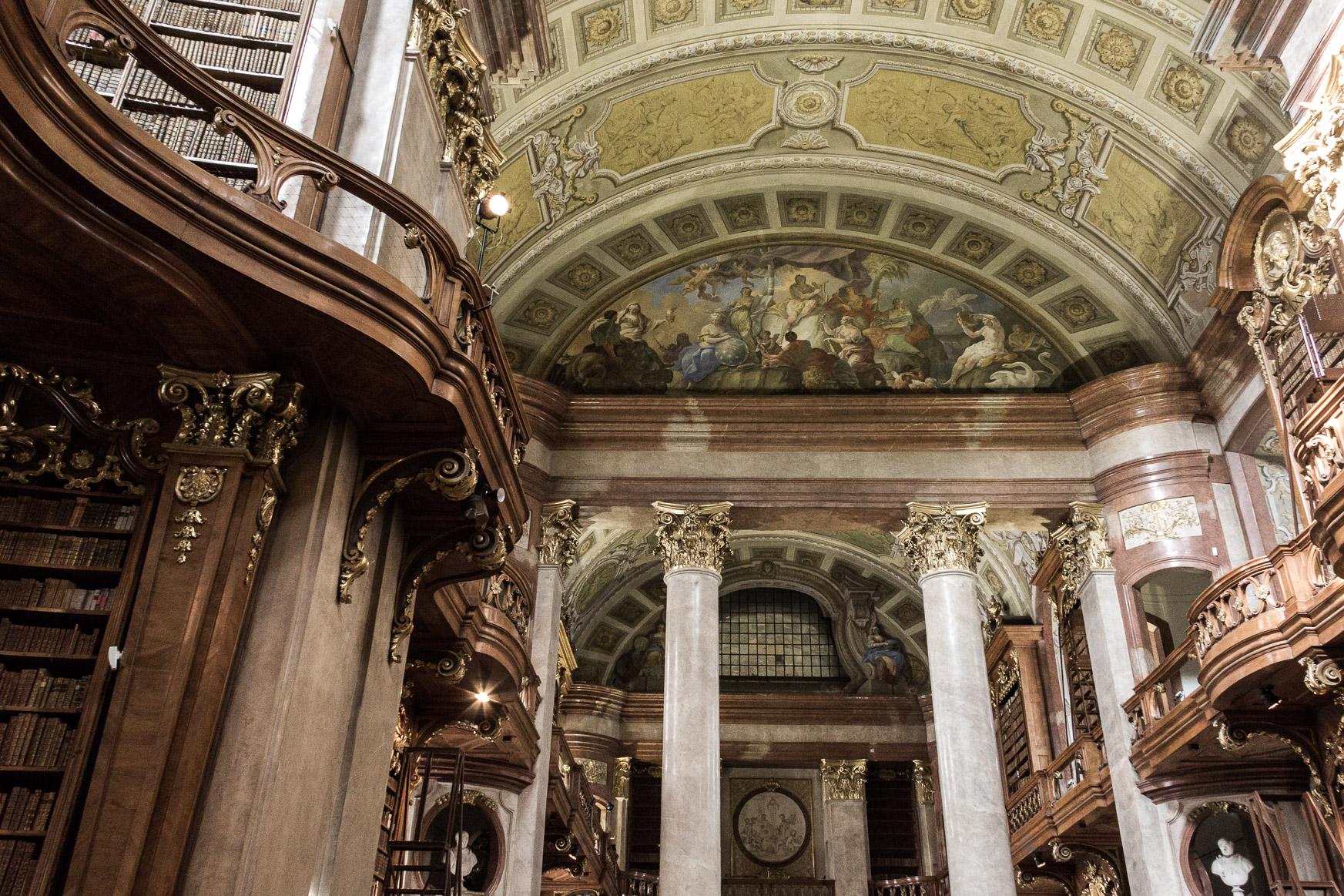 Bibliothèque Nationale d'Autriche à Vienne.