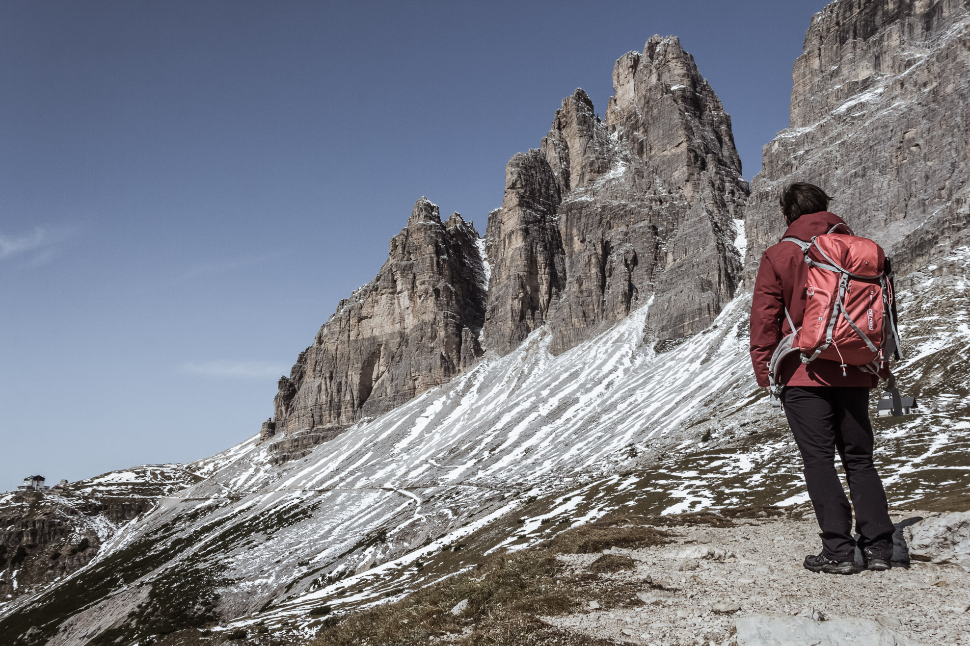 Parc naturel Tre Cime di Lavaredo, Dolomites.