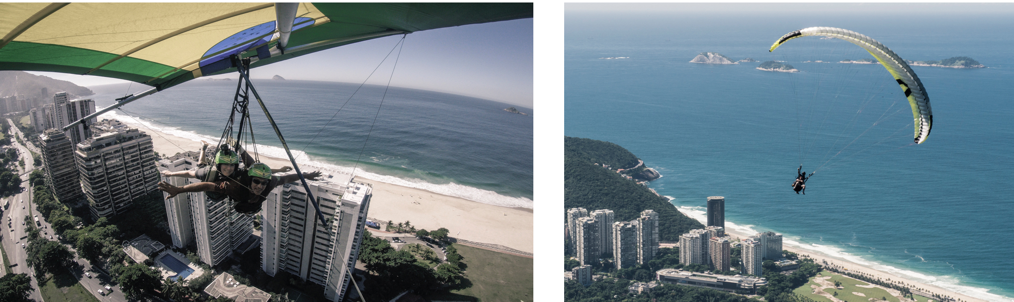Faire du deltaplane ou du parapente à Rio.