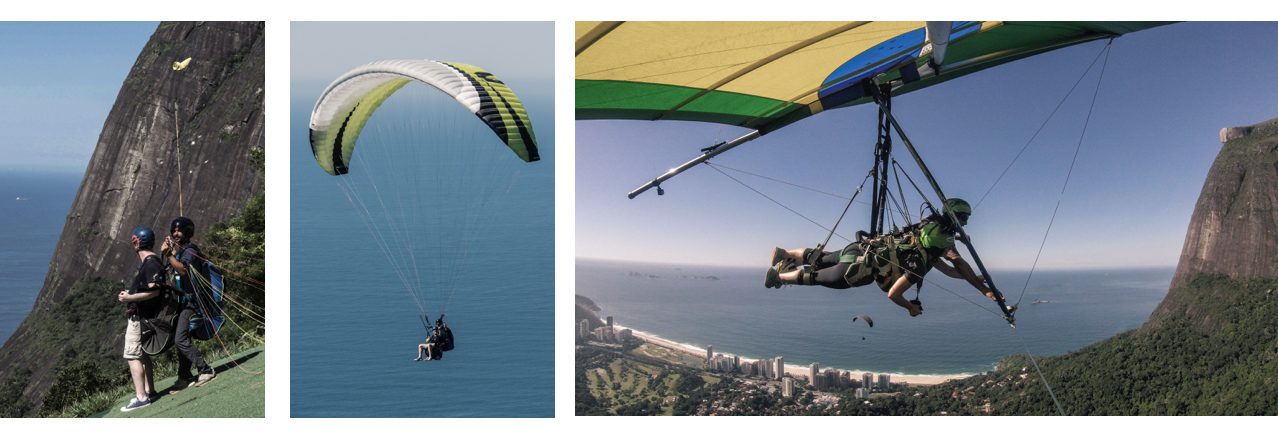 Vol en parapente et deltaplane à Rio de Janeiro.