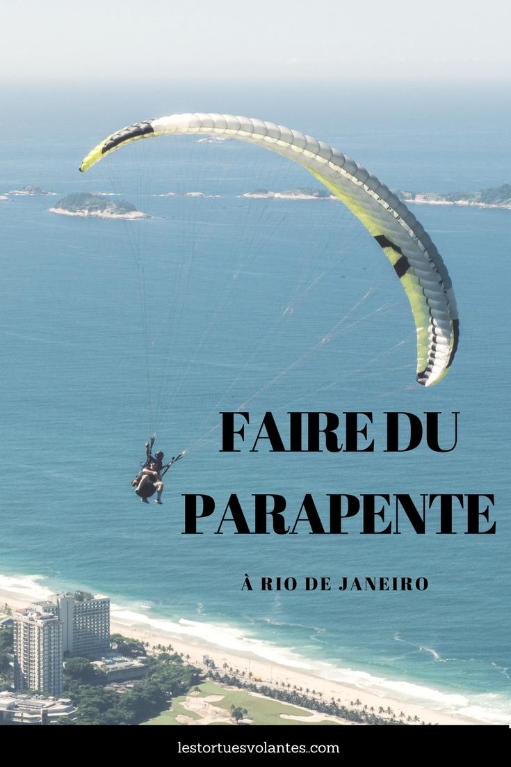 Faire du parapente à Rio de Janeiro.