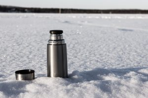 Bouteille thermos. Laponie.