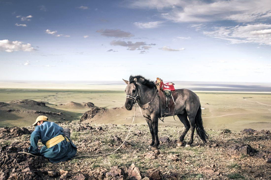 Mongolie - desert de Gobi chevalier mongol