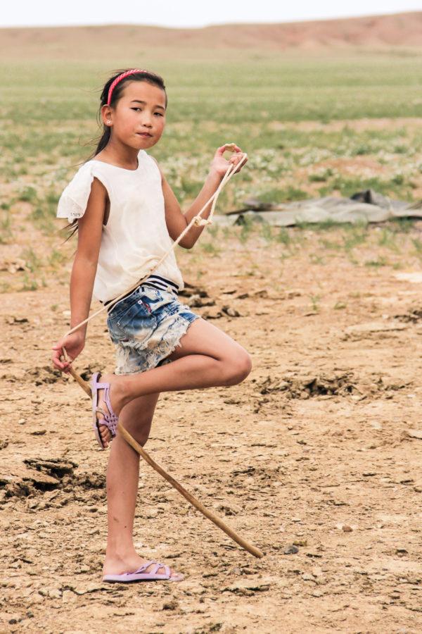 Fillette mongole