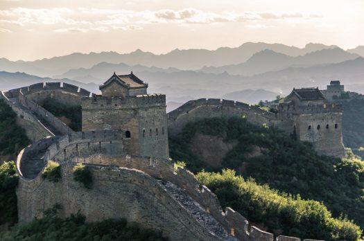 Lever du soleil sur la Muraille de Chine
