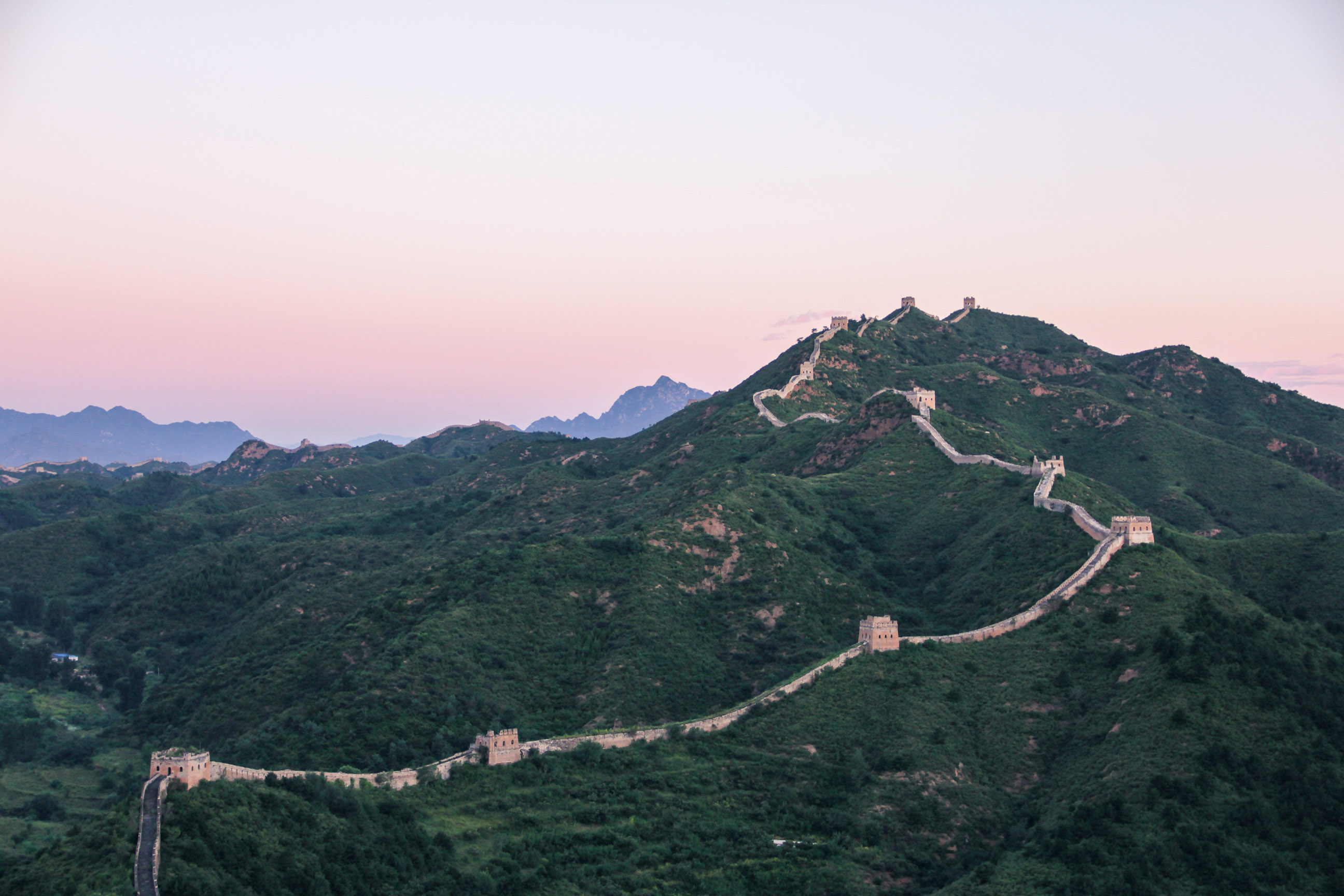 La Muraille de Chine à l'aube