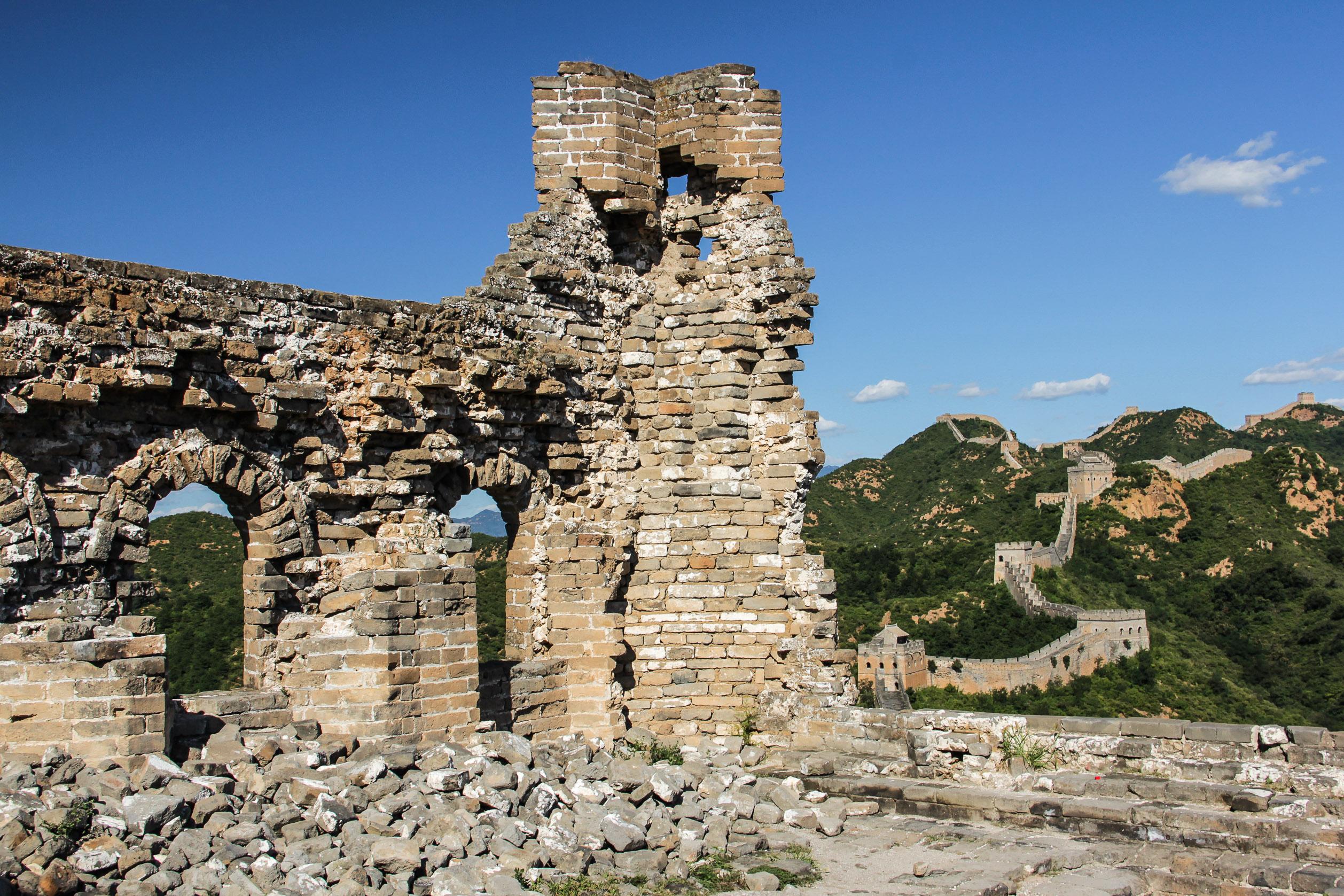 Morceau de ruine sur la Muraille de Chine