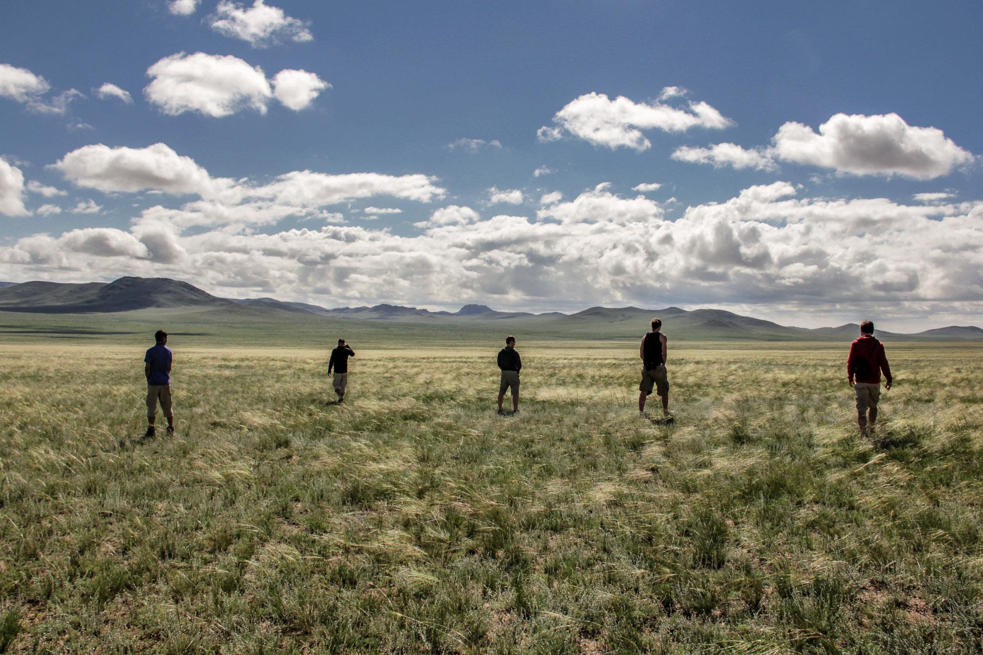 Pause pour se dégourdir les jambes en Mongolie