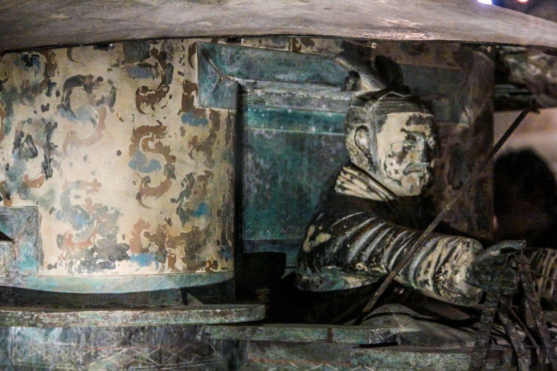 Conducteur du chars en bronze au Musée du Mausolée de l'Empereur Qin