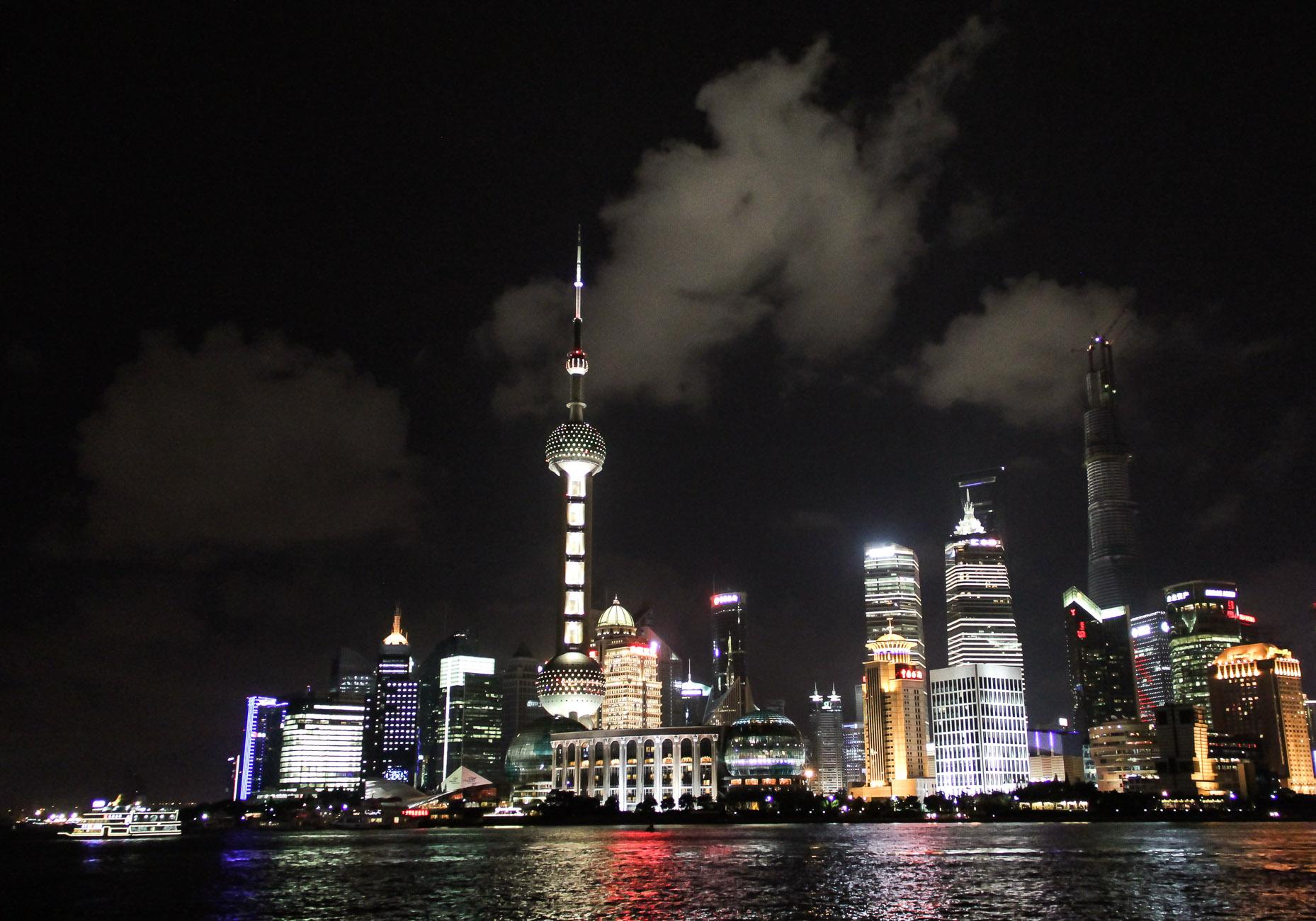 Vue de Pudong depuis le Bund à Shanghai
