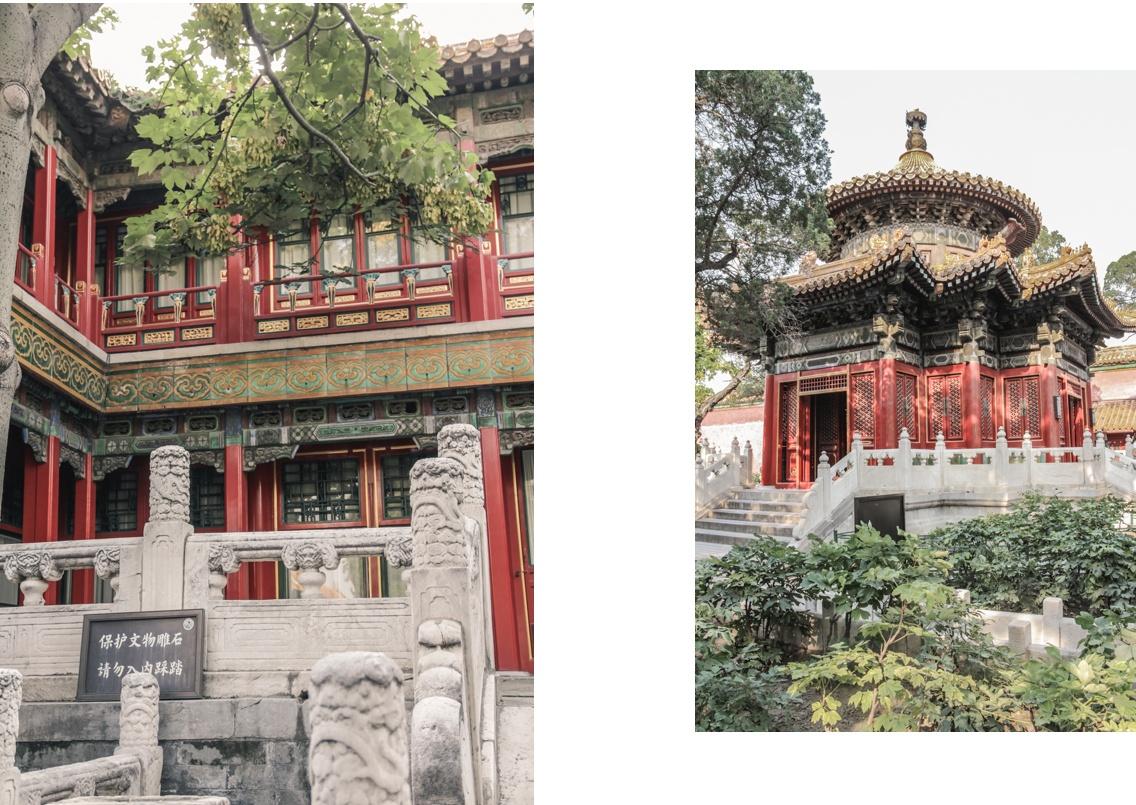 Pagodes dans le jardin de la Cité Interdite à Pékin.