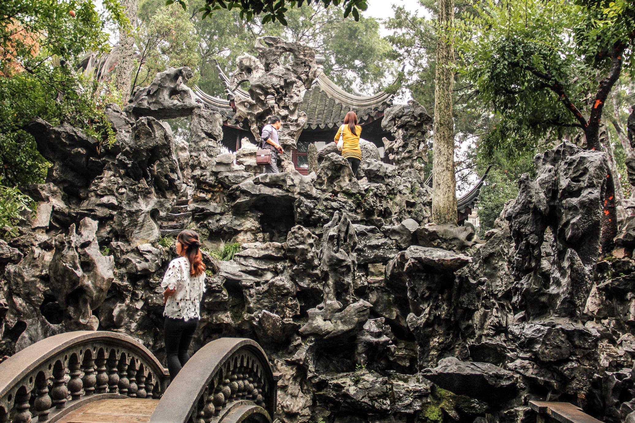 Labyrinthe du Jardin de la Forêt du Lion à Suzhou