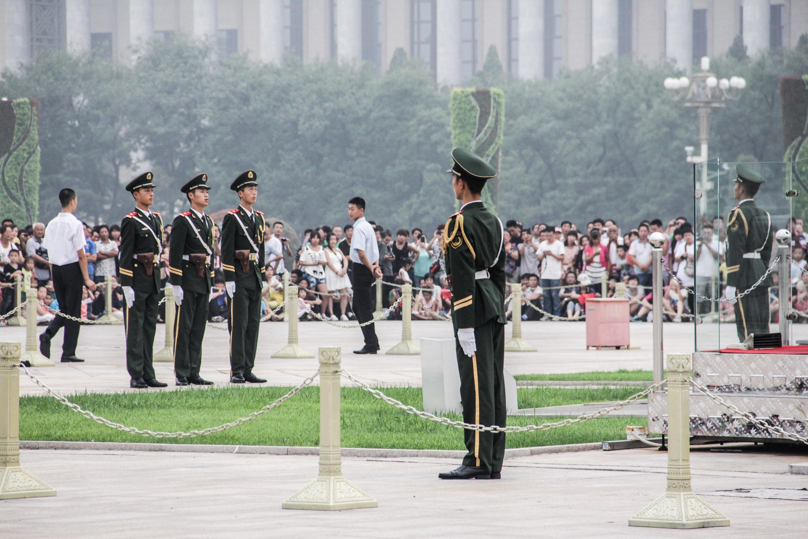 Cérémonie de baisser du drapeau sur la Place Tian'anmen