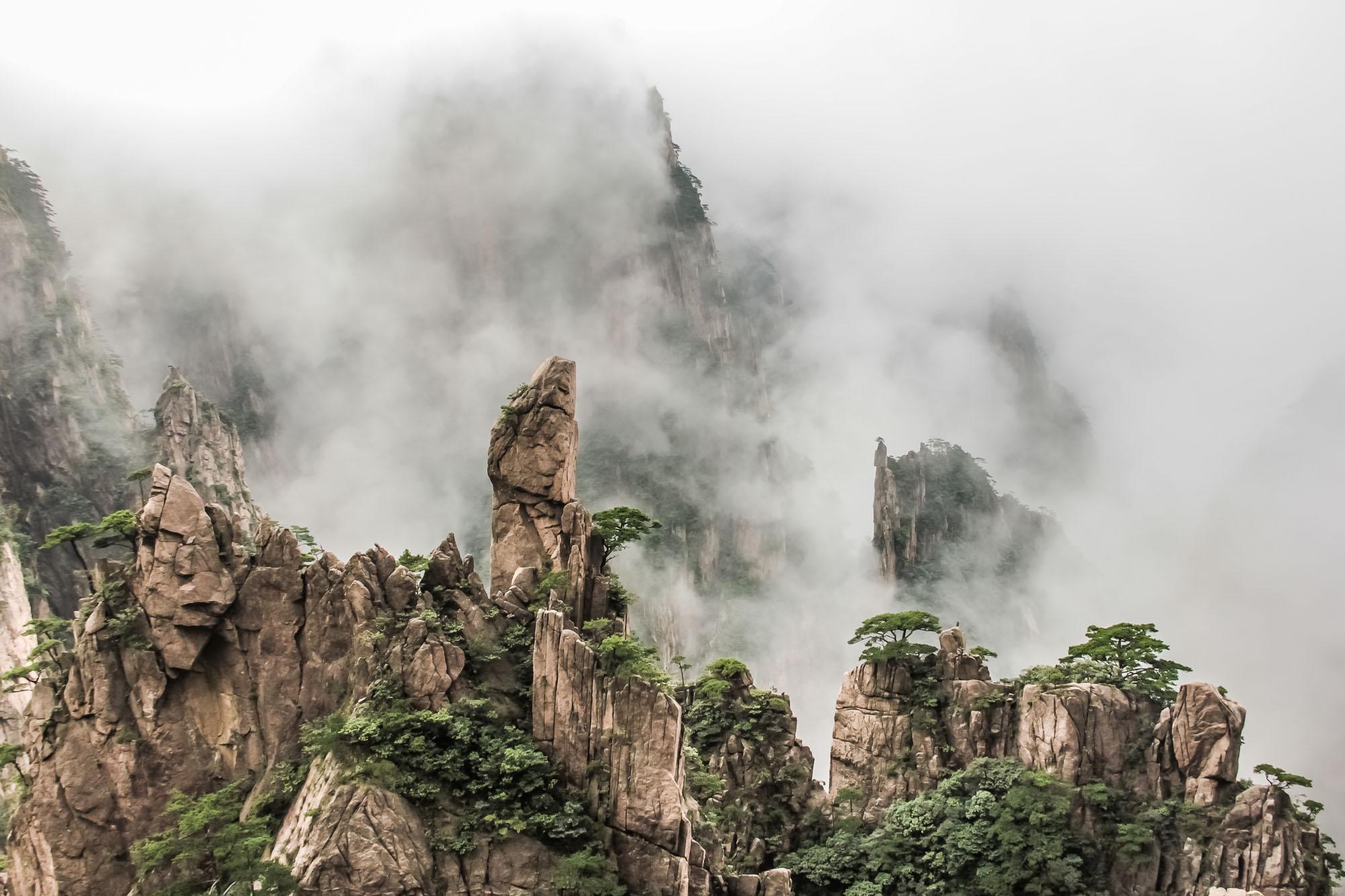 Huangshan dans les nuages