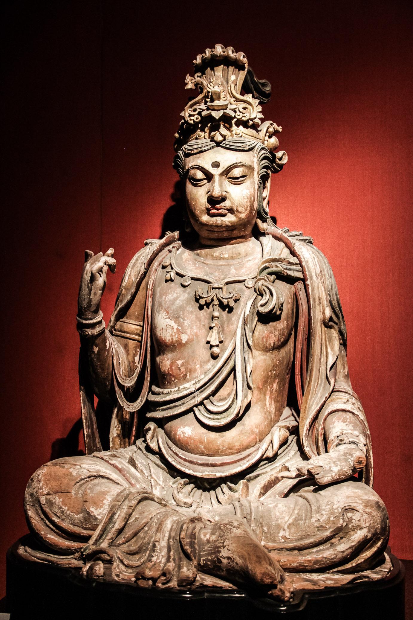 Statue de Bouddha au Musee de Shanghai
