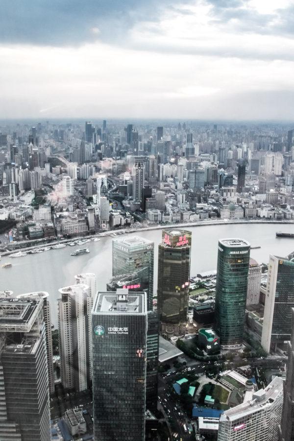 Vue sur Shanghai depuis le World Financial Center