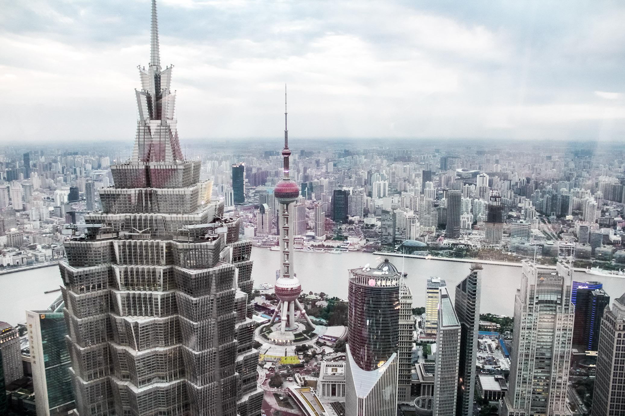Vue sur Shanghai depuis le bar du Park Hyatt