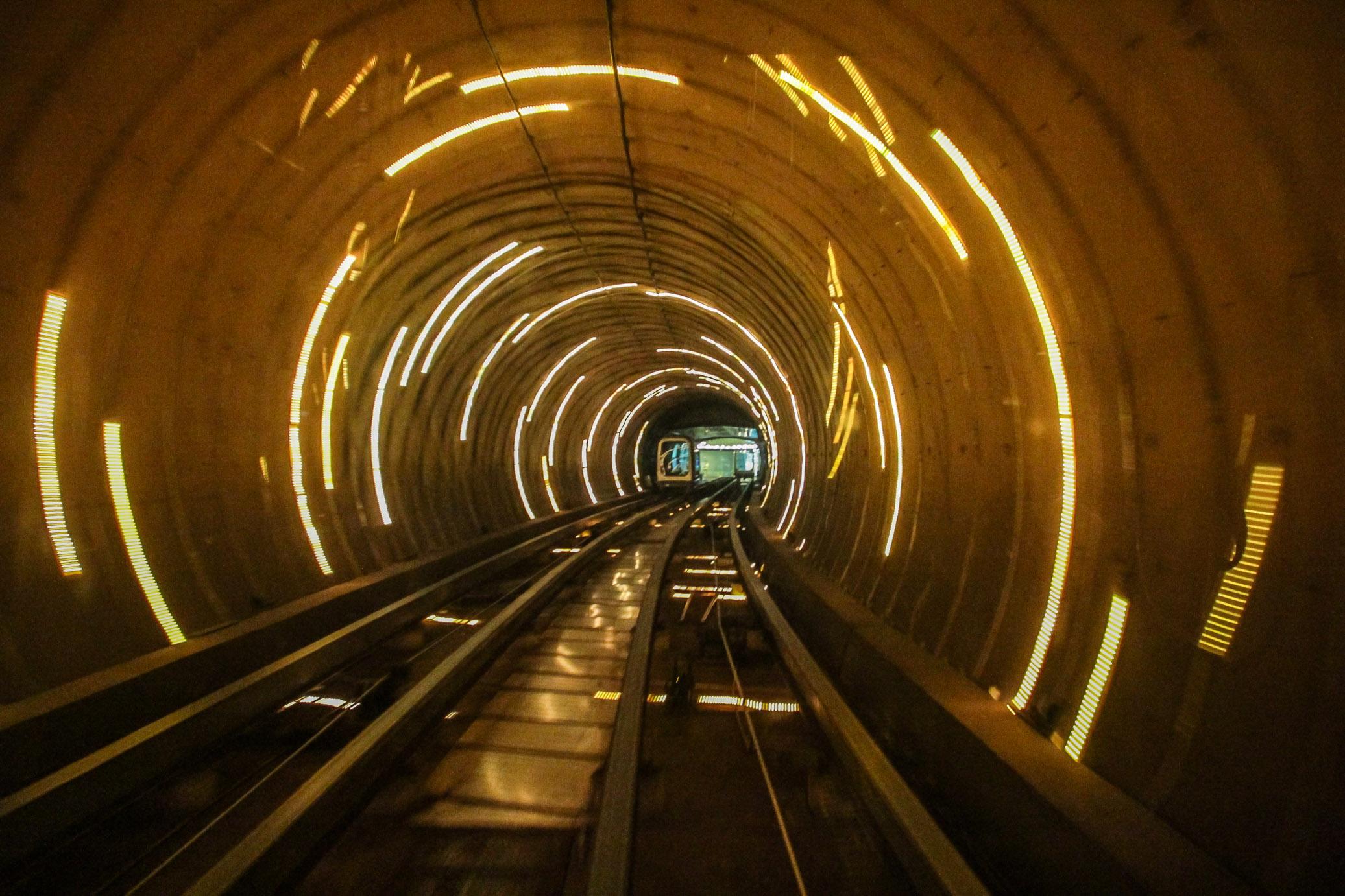 Waitan Sightseeing Tunnel à Shanghai