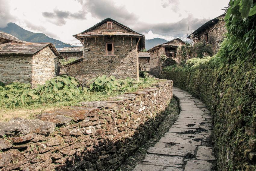Village de Ghandruk sur le trajet du trek de Poon-Hill