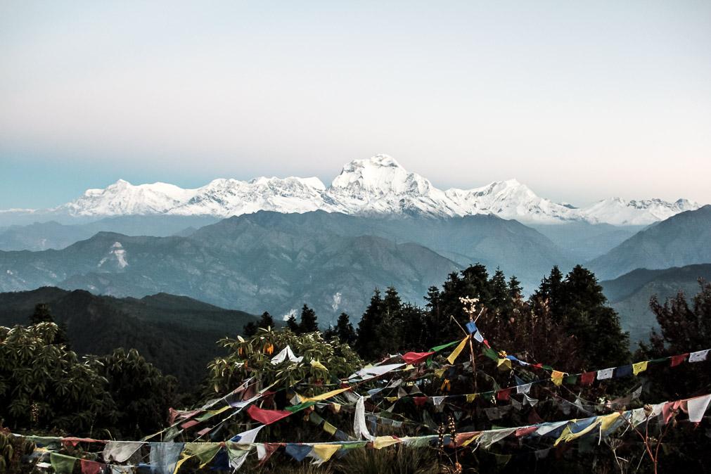 Vue du sommet de Poon-Hill sur les montagnes de l'Annapurna.