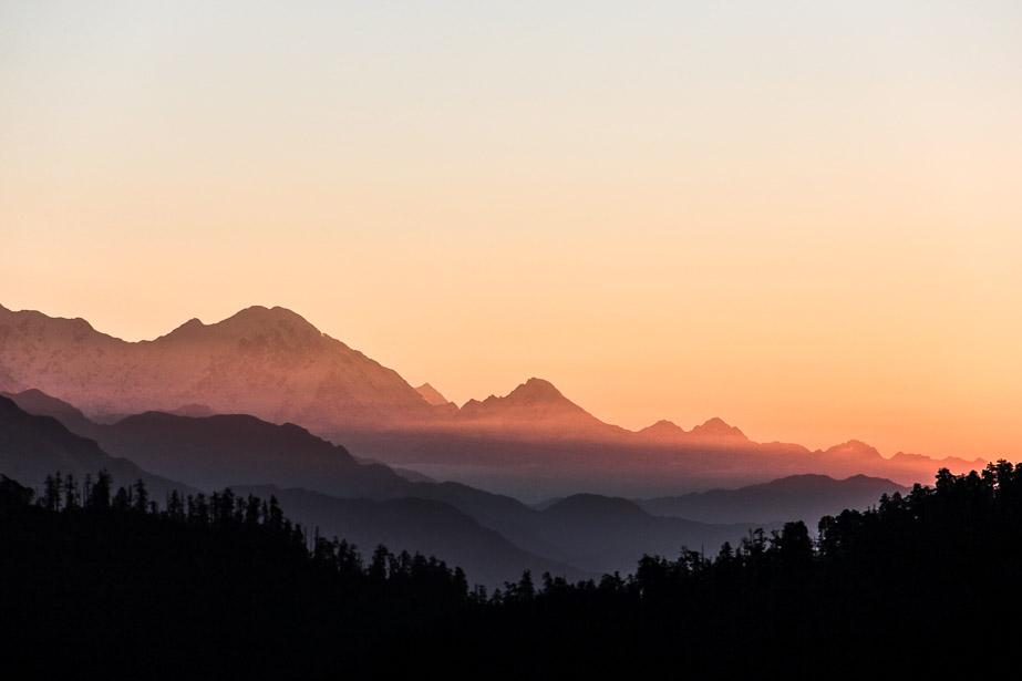 lever du soleil sur Poon-Hill.