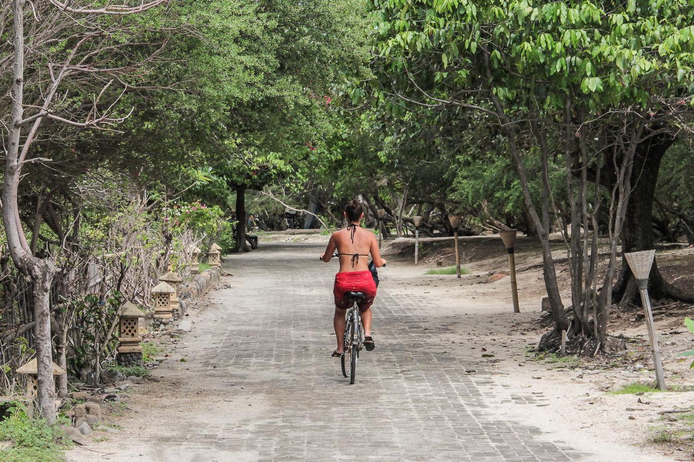 Faire le tour de Gili Trawangan à vélo