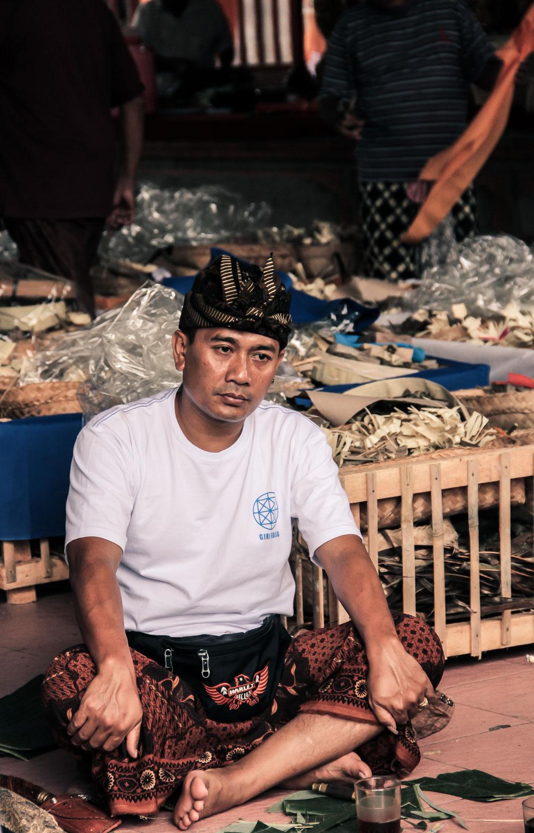 Homme balinais à Ubud