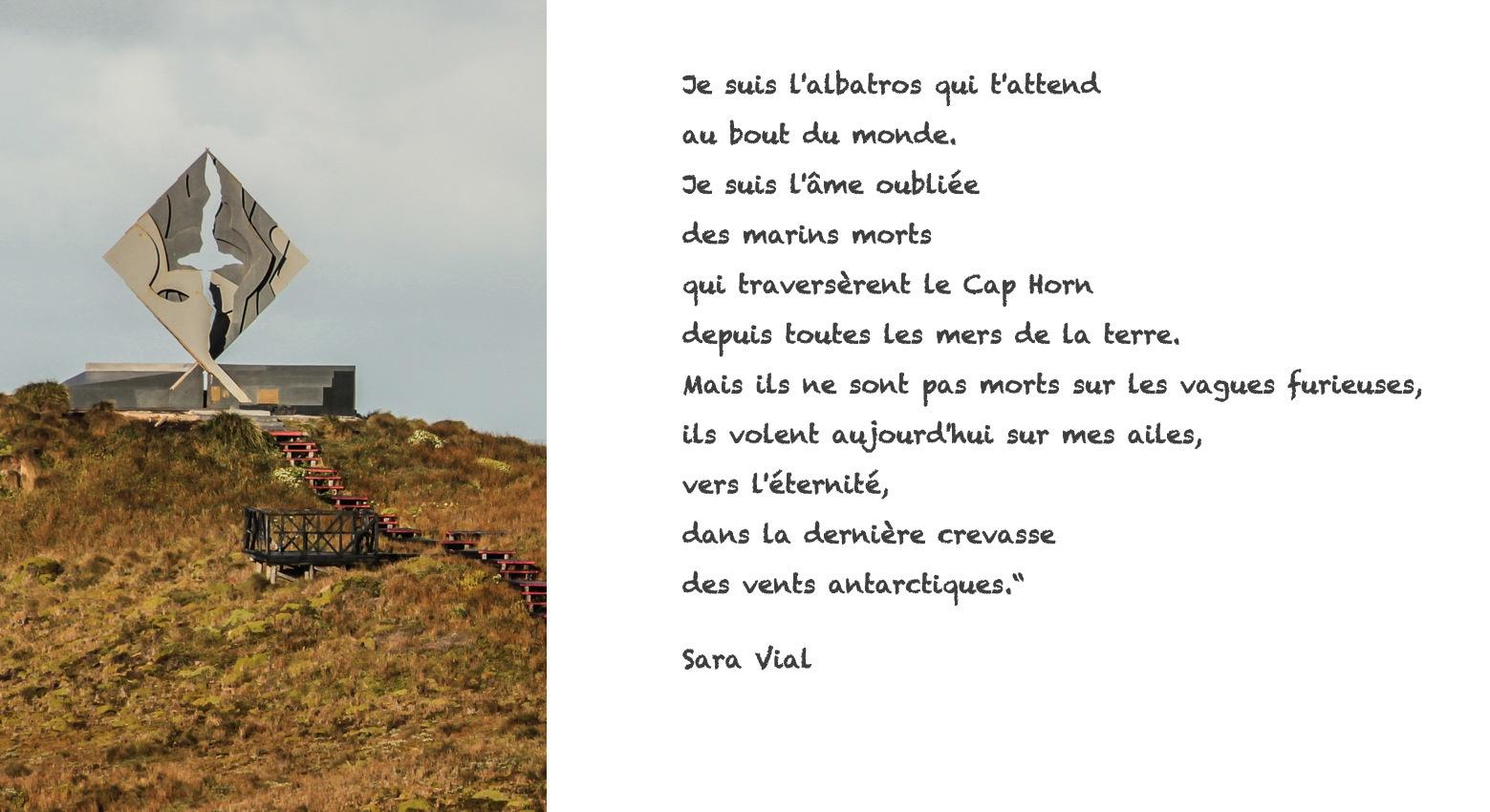 Poème de Sara Vial sur l'île de Cap Horn. Croisière en Patagonie.