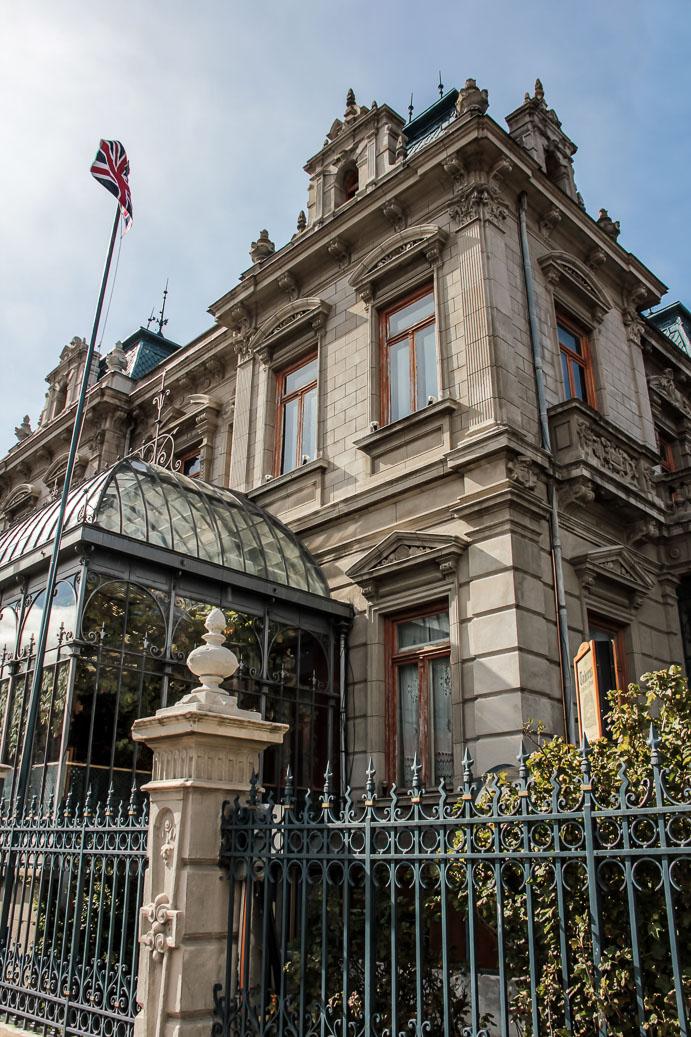 Façade extérieure du Palais de Sara Braun à Punta Arenas