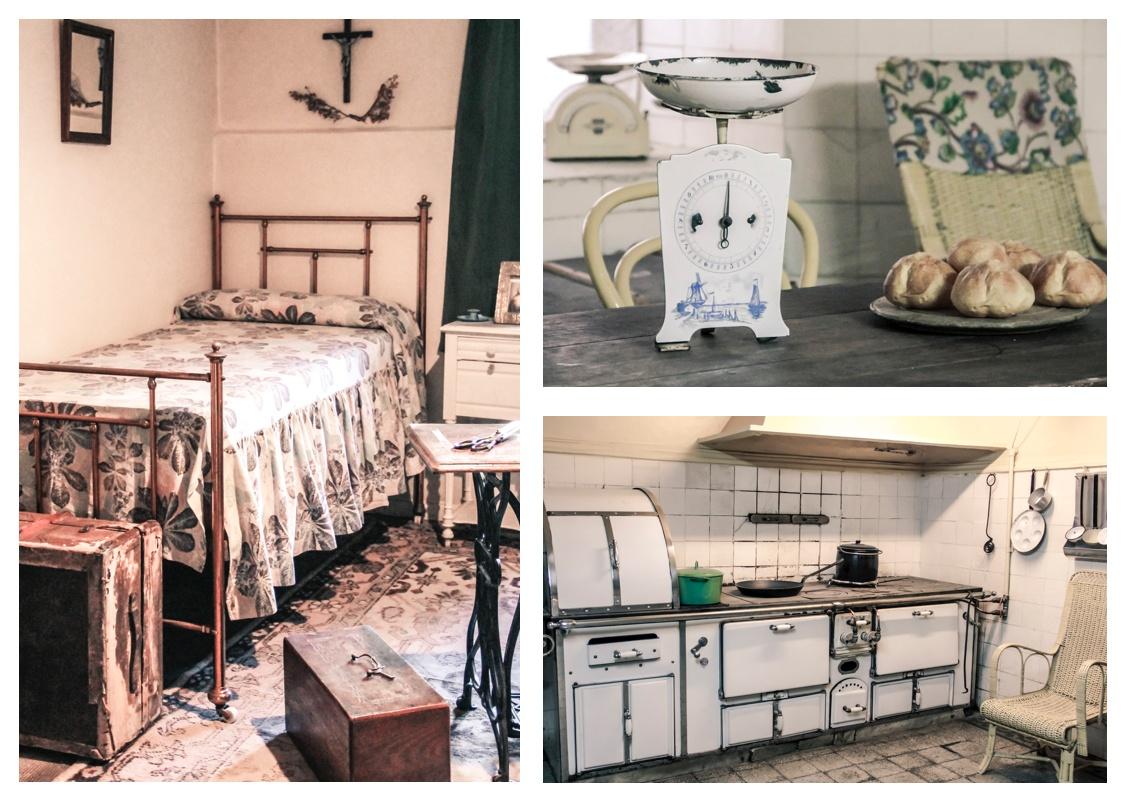 Chambre et cuisine du Palais Sara Braun à Punta Arenas. Croisière en Patagonie.