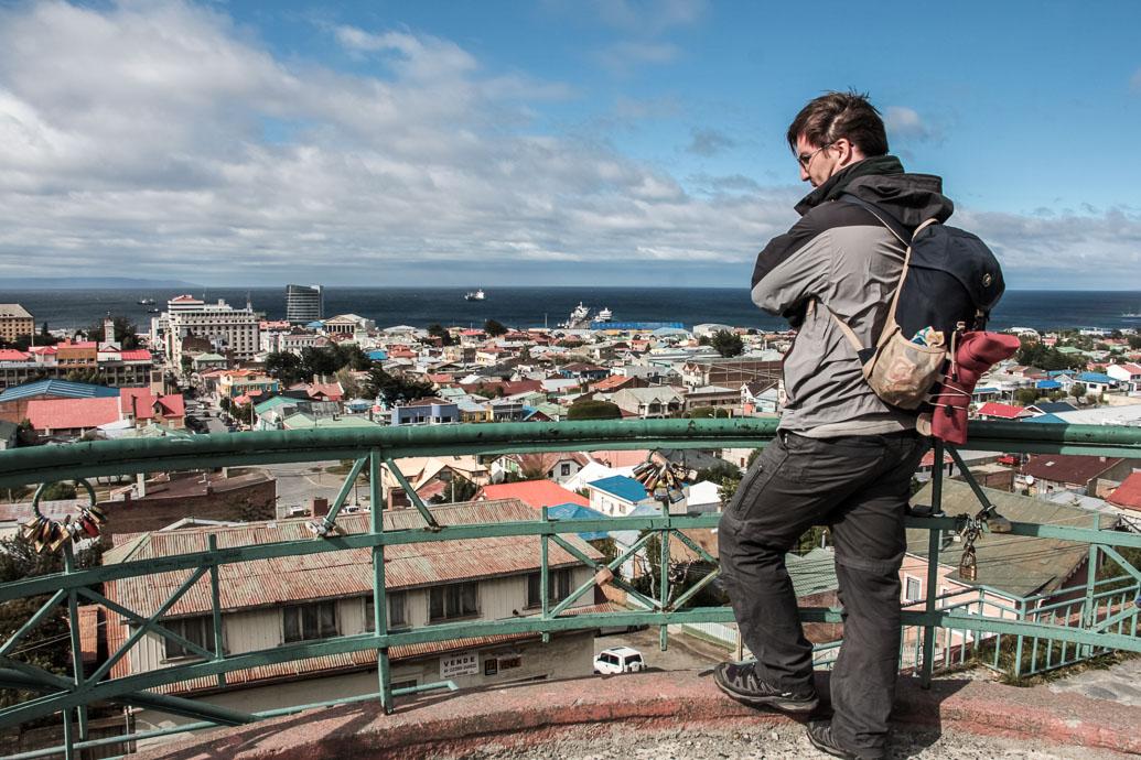 Vu de la ville de Punta Arenas au Chili
