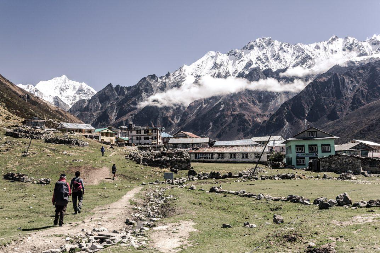 Montagnes du Langtang Trek au Népal.