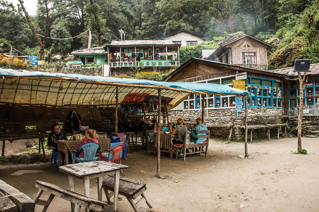 Restaurants sur le trek de Langtang au Népal