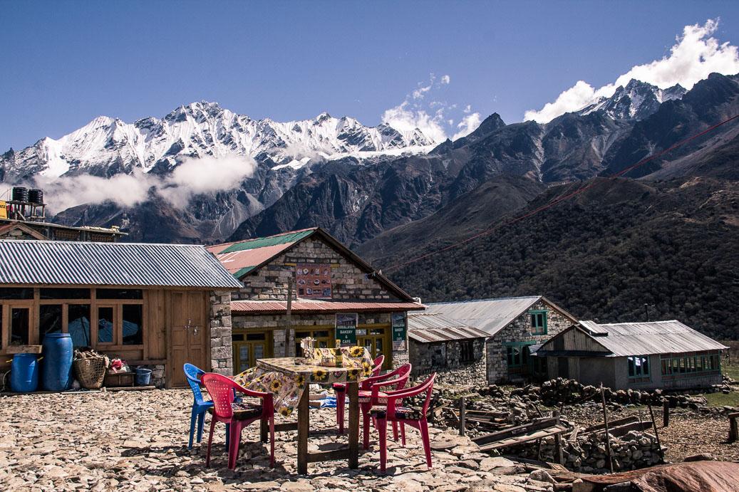 Lodge sur le trek de Langtang au Népal