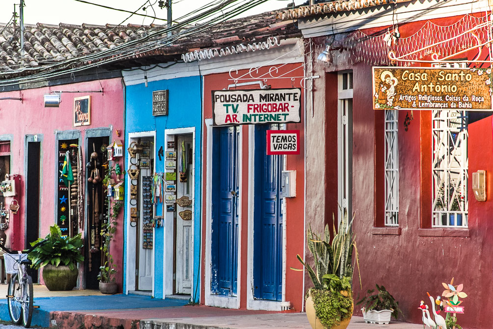 Maisons colorées de Arraial d'Ajuda