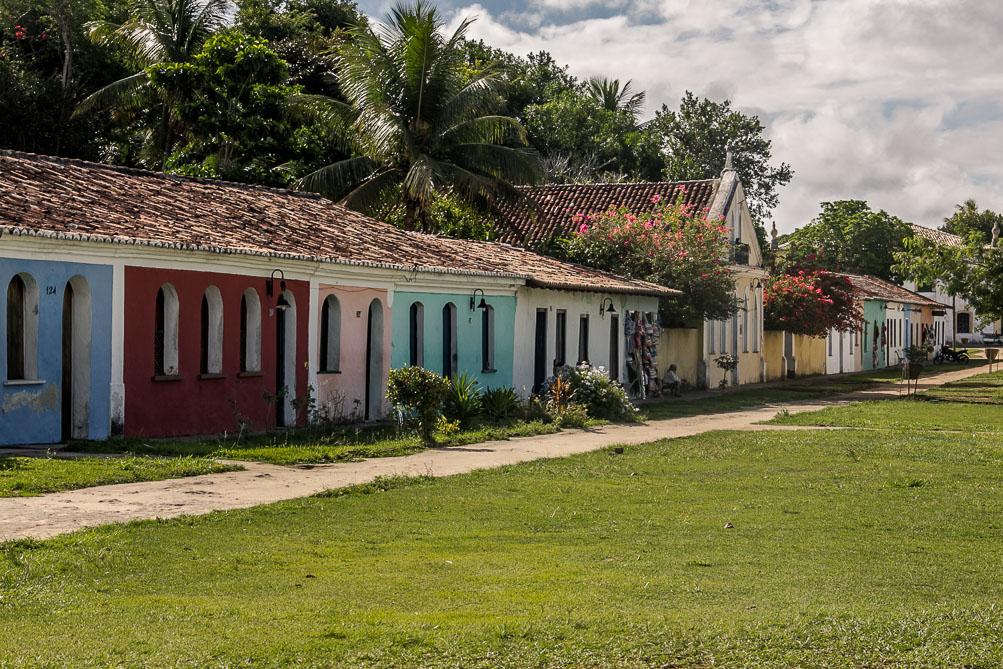 Maisons colorées de la Cité Historique à Porto Seguro