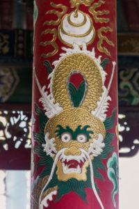détail du temple Choijin, Oulan-Bator, Mongolie