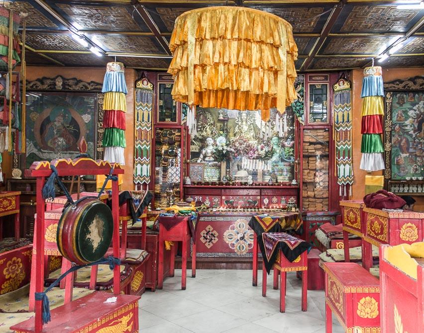 Intérieur d'un temple Bouddhiste à Oulan-Bator, Mongolie