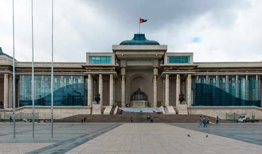 Parlement mongol sur la place Sukhbaatar à Oulan-Bator, Mongolie
