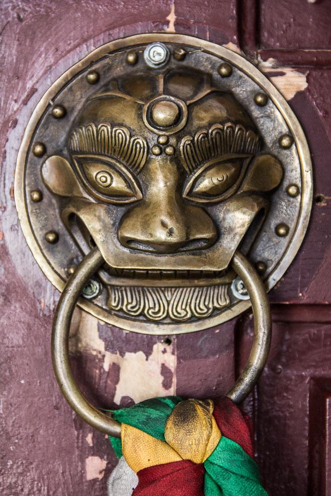 Porte au Monastère de Gandantegchinlin à Oulan-Bator, Mongolie