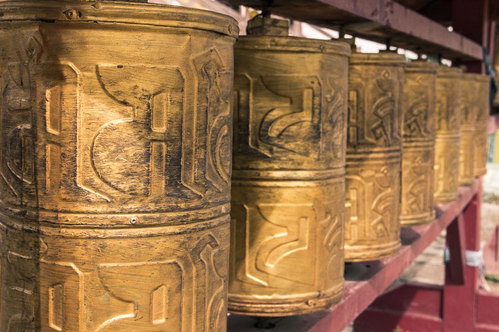 Roues de prière au Monastère de Gandantegchinlin, Oulan-Bator, Mongolie