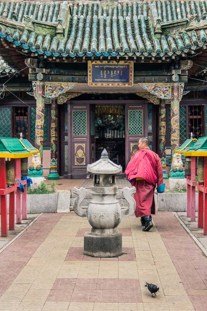 Temple Bouddhiste à Oulan-Bator, Mongolie