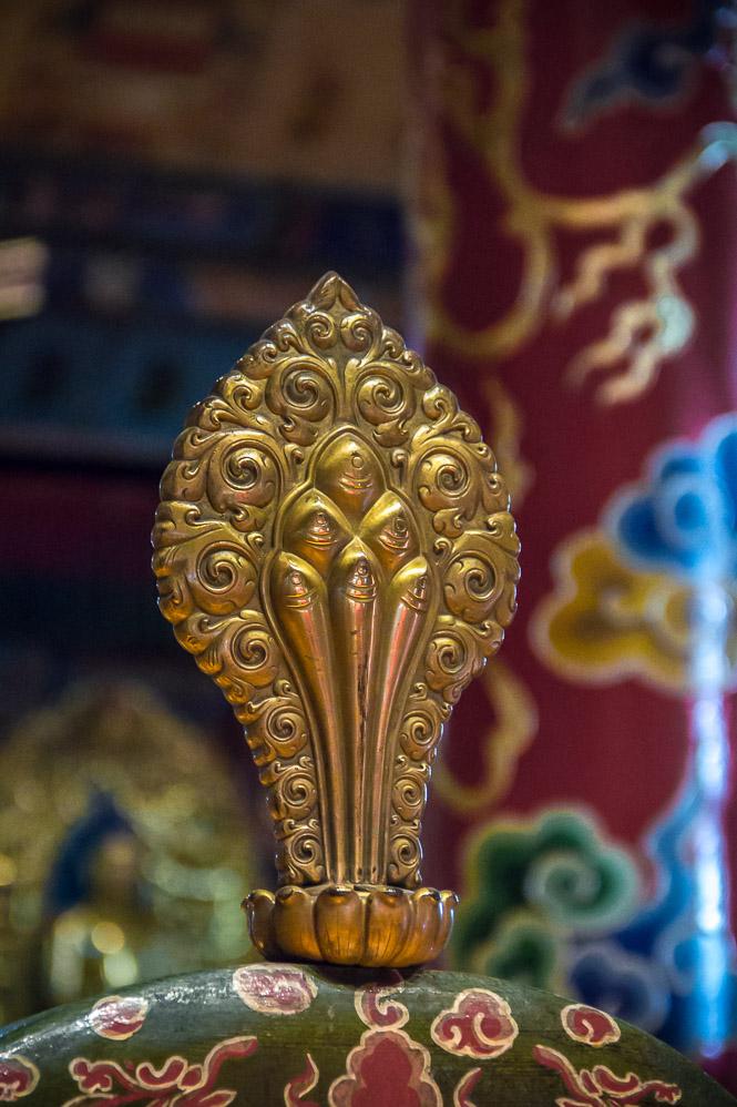 Détail du temple Choijin à Oulan-Bator, Mongolie